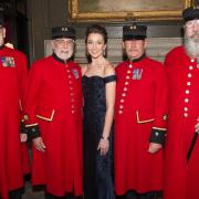 Carly Paoli Performs For The Chelsea Pensioners at Royal Hospital Chelsea