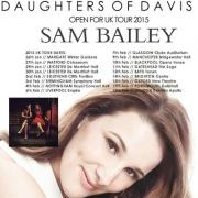 Daughters of Davis To Support X Factor's Sam Bailey On UK Tour
